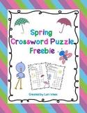 Spring Crossword Puzzles Freebie