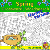 Spring Crossword, Spring Word Search and Other Spring Puzzles – Harder Version