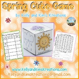 Spring Cube Game {roll, tally, & graph skills}