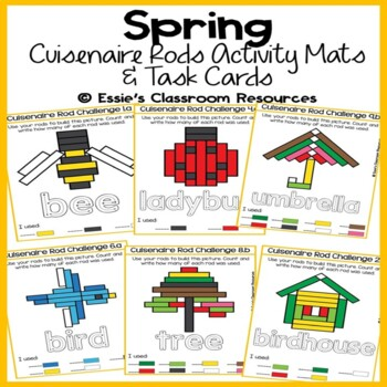 Spring Cuisenaire Rods Activity Mats