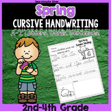 Spring Cursive Writing No-Prep Packet