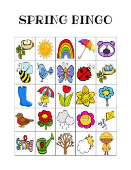 Spring Bingo Custom Printables