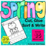 Spring Cut, Glue, Sort & Write Sentences
