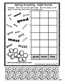 Kindergarten Math and Literacy Cut and Color for Spring (No Prep!)