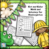 Kindergarten Math and Literacy for Spring NO PREP!