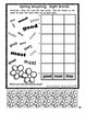 Kindergarten Math and Literacy Cut and Color for Spring (N