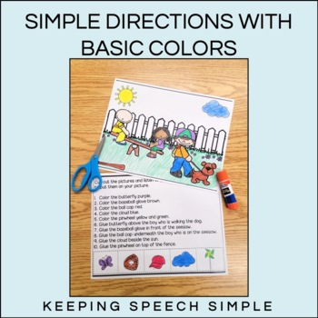 Spring Cut and Glue Language Activities