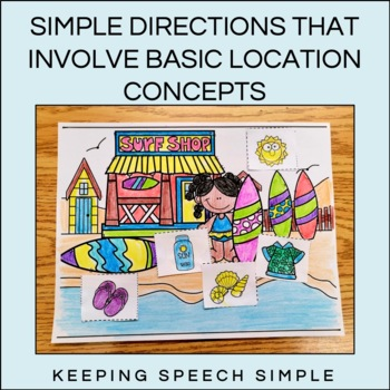 Summer Cut and Glue Language Activities