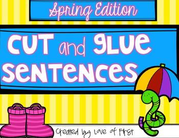 Spring Cut and Glue Sentences