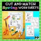 Spring Cut and Paste Match-ups Worksheets, PreK-3,No Prep