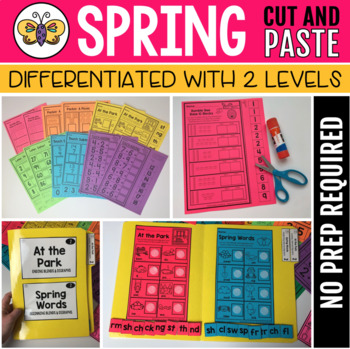 Spring Cut and Paste Activities (2 levels of differentiation)