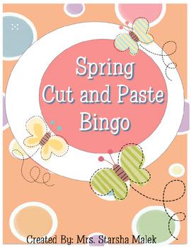 Spring Cut and Paste Bingo