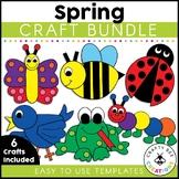 Spring Crafts Bundle | Spring Bulletin Board | Spring Activities | Ladybug | Bee