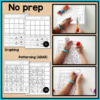 Spring Cut and Paste Math Worksheets for Special Education and Autism