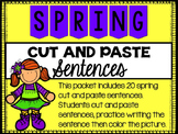 Spring Cut and Paste Sentences