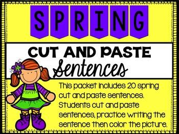 Spring Cut and Paste Sentences