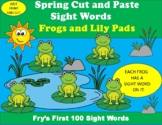 Spring Cut and Paste Sight Word Activity