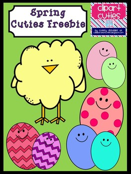 Spring Cuties Clipart Freebie- Chick and Eggs