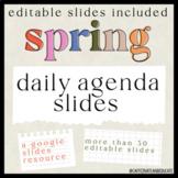 Spring Daily Agenda Slides