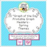Spring Daily Graph Printables - 20 Full-Color Graph Questions