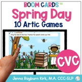 Spring Day: CVC BOOM Cards™️  for Distance Learning Speech