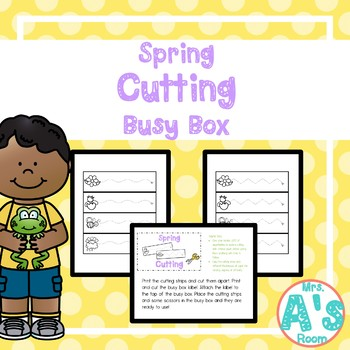 Spring Day Cutting Busy Box