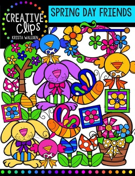 Spring Day Friends {Creative Clips Digital Clipart}