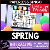 Spring Interactive Digital Bingo Game - Distance Learning