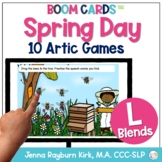Spring Day: L Blends BOOM Cards™️ Distance Learning Speech