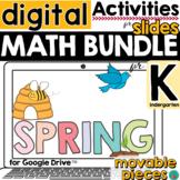 Spring Day Math for Google Slides ™ for Kindergarten  DIST