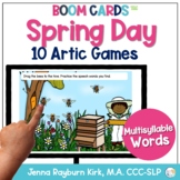 Spring Day: Multisyllable Words BOOM Cards™️ Distance Lear