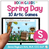 Spring Day: S Blends BOOM Cards™️ Distance Learning Speech