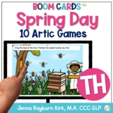 Spring Day: TH Sound BOOM Cards™️  for Distance Learning Speech Therapy