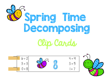 Spring Decomposing Clip Cards (Numbers 1-10)