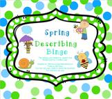 Spring Describing Bingo
