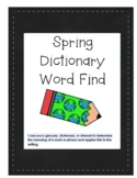 Spring Dictionary Word Find