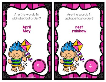 Spring Dictionary Skills and Guide Words