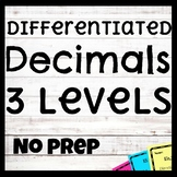 Differentiated Decimal Unit | Math Stations | Common Core |