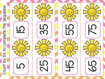 Spring Differentiated Math Centers Bundle: Clipcards,Ten Frames, and Numbers
