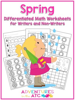 Spring Differentiated Math Worksheets