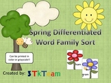 Spring Differentiated Word Family Sort