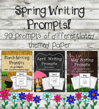 Spring Differentiated Writing Prompts