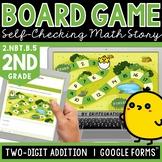Digital Board Game | 2-Digit Addition | Self-Checking | Ed