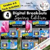 Spring Digital Breakout BUNDLE - Escape Rooms Spring BUNDL