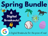 Spring Digital Breakout Bundle: (Break, Derby, Baseball, Easter, Earth Day)