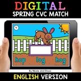 Spring Digital CVC Word Work for Google Classroom 2 - Dist