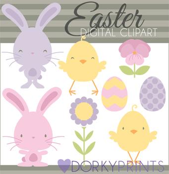 Spring Digital Clip Art - Easter Bunny Clip Art