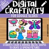 Spring Digital Craft / Craftivity on Google Slides for Dis