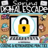 Spring Digital Escape Room Keyboarding & Coding (Includes
