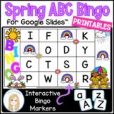 Spring Digital Letter Bingo Game for Google Slides™ with a
